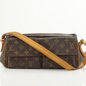 Auth Louis Vuitton Viva Cite Mm Shoulder #802L36